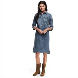 Lands End denim shirt dress size 16W